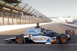 Front row photoshoot: pole winner Alex Tagliani, Sam Schmidt Motorsports