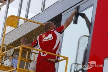 Preparations on the Ferrari Hospitality