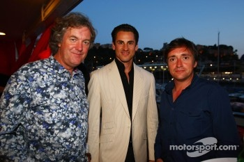 Top Gear's James May and Peter Hammond with Adrian Sutil