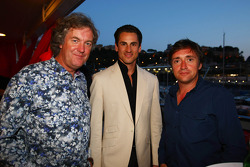Top Gear's James May and Richard Hammond with Adrian Sutil