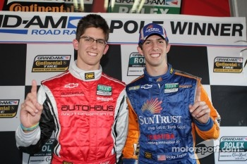 Jordan Taylor and Ricky Taylor celebrate Grand Am pole awards