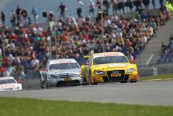 Mike Rockenfeller, Audi Sport Team Abt Sportsline Audi A4 DTM, Jamie Green, Team HWA AMG Mercedes C-Klasse