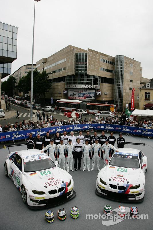#55 BMW Motorsport BMW M3 GT: Augusto Farfus Jr., J__rg Muller, Dirk Werner, #56 BMW Motorsport BMW M3 GT: Andy Priaulx, Dirk Muller, Joey Hand