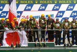 LM P2 podium: class winners Karim Ojjeh, Tom Kimber-Smith, Olivier Lombard, second place Franck Mailleux, Lucas Ordonez, Soheil Ayari, third place Scott Tucker, Christophe Bouchut, Joao Barbosa