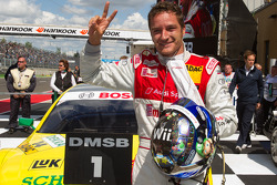 Second place Timo Scheider, Audi Sport Team Abt celebrates