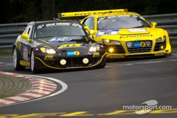 #170 Team ATS Motorsport Honda S2000: Ralf Schmid, Harald Jacksties, Frank Lorenzo, Friedhelm Mihm, #16 Audi Sport Team Abt Sportsline Audi R8LMS: Mattias Ekstrm, Timo Scheider, Marco Werner, Christian Abt