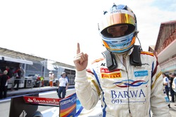 Charles Pic, Barwa Addax Team celebrates his pole position