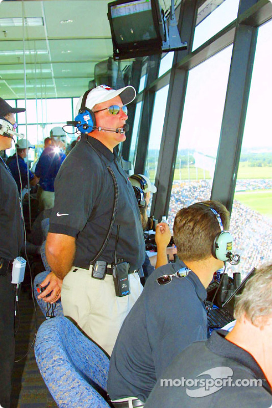 IRL officials in the control tower
