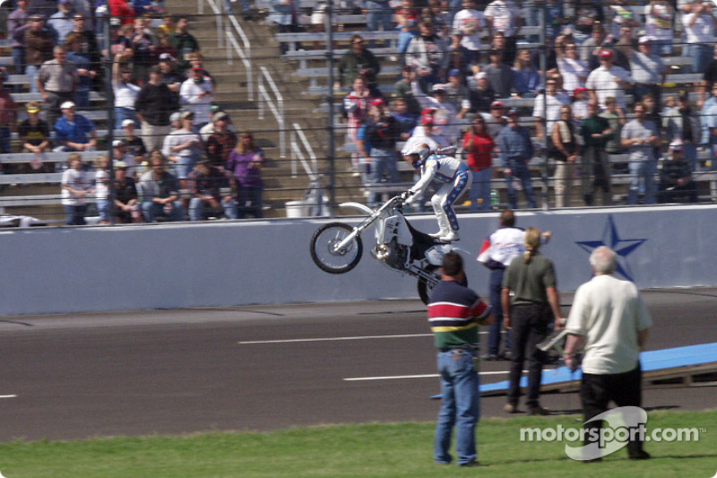 Robbie doing his stand up wheelie