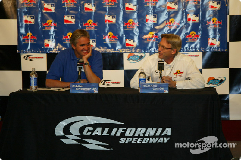 Eddie Cheever and Team Manager Richard Caron