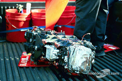 Mark Dismore's damaged transmission
