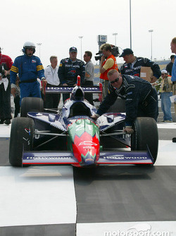 The winning car