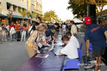 Toyota Indy Feat held in South Beach, Miami: autograph session