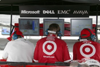 Chip Ganassi Racing Team pit area