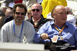 Comedian Dennis Miller with legend Andy Granatelli