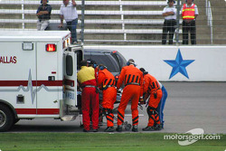 IRL safety team at work after Airton Daré's crash