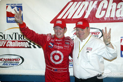Race winner Scott Dixon and Chip Ganassi