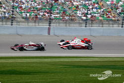 Tora Takagi, Scott Dixon and Helio Castroneves
