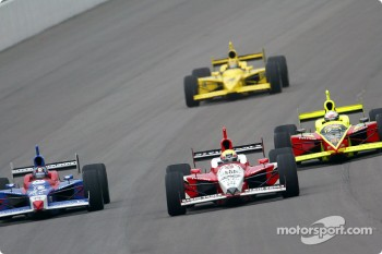 Bryan Herta, Dan Wheldon and Scott Sharp