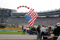 Flag arrives