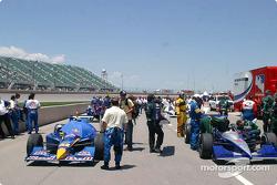 Cars on starting grid