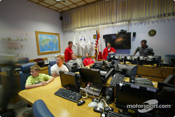 Military gives a presentation to IndyCar drivers and guests