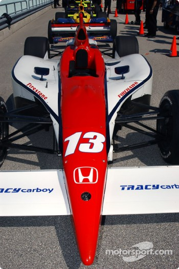 Access Motorsports Racing car on qualifying line-up