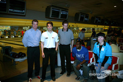 Sam Hornish Jr. at PBA Pro-Am at Woodland Bowl in Indianapolis