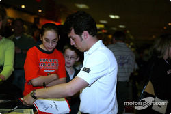 Sam Hornish Jr. at PBA Pro-Am in Indianapolis: fans flocked to Sam Hornish Jr.