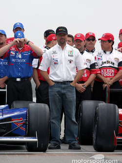 Front row photo shoot: Michael Andretti