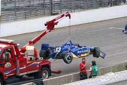 Greg Ray's damaged car