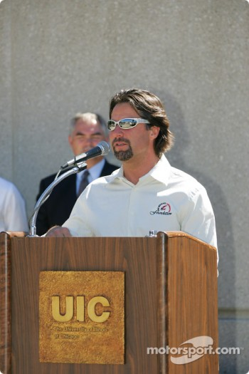 Drink Smart event at The University of Illinois in Chicago: Michael Andretti
