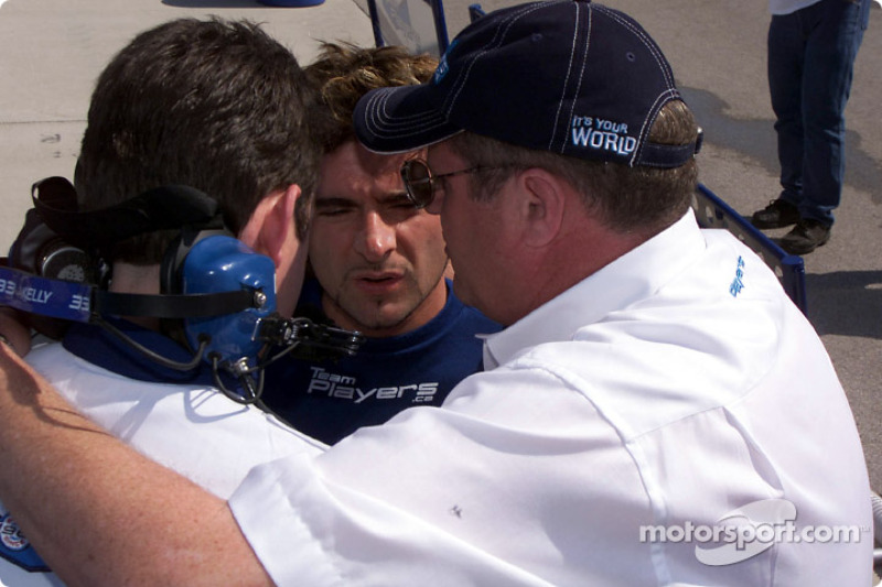 Team Player's getting ready to go home: Alex Tagliani and Neil Micklewright