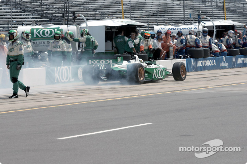Paul Tracy out of the pit