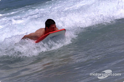 Surf's up for Patrick Carpentier