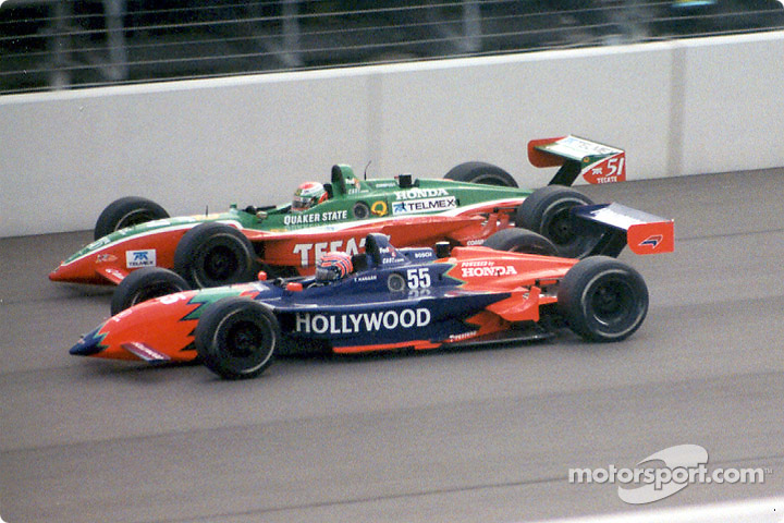 Tony Kanaan and Adrian Fernandez