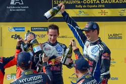 Podium: Sébastien Ogier, Julien Ingrassia, Volkswagen Polo WRC, Volkswagen Motorsport
