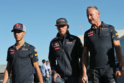 (L to R): Pierre Gasly, Red Bull Racing Third Driver with Max Verstappen, Red Bull Racing and Jonathan Wheatley, Red Bull Racing Team Manager