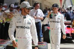 Pole for Lewis Hamilton, Mercedes AMG F1, 2nd for Nico Rosberg, Mercedes AMG F1