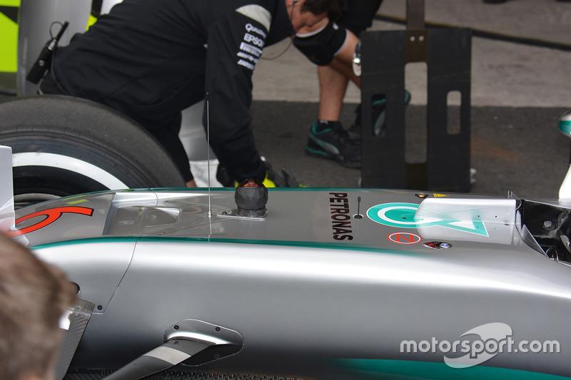 Mercedes F1 W07 mit 360-Grad-Kamera