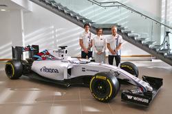 Lance Stroll, Williams; Valtteri Bottas, Williams; Claire Williams, Williams, Stellvertretende Teamchefin