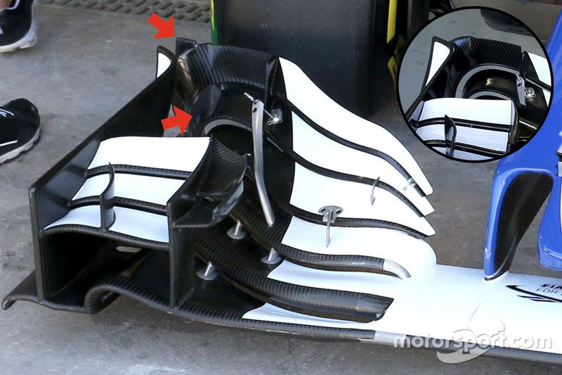 Sauber C35: Frontflügel