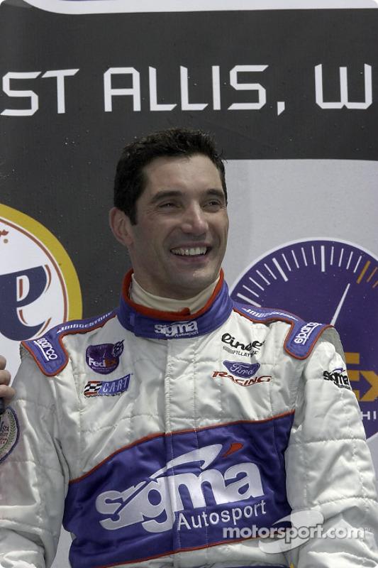 The podium: Max Papis