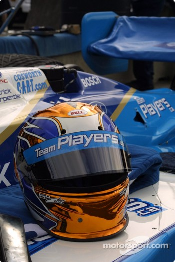 Patrick Carpentier's helmet
