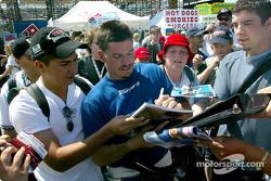 Patrick Carpentier signing autographs