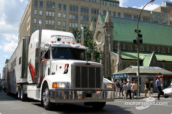 CART is coming to Montréal: transporters parade on Ste. Catherine Street