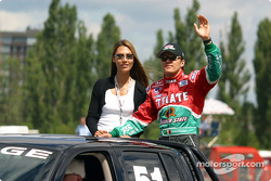 Drivers' parade: Adrian Fernandez