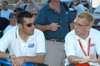 Dario Franchitti and Kenny Brack