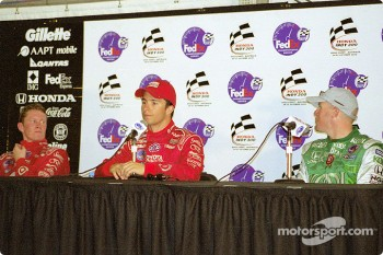 Press conference: Bruno Junqueira with Scott Dixon and Paul Tracy