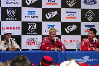 Press conference: race winner Kenny Brack, Cristiano da Matta and Bruno Junqueira